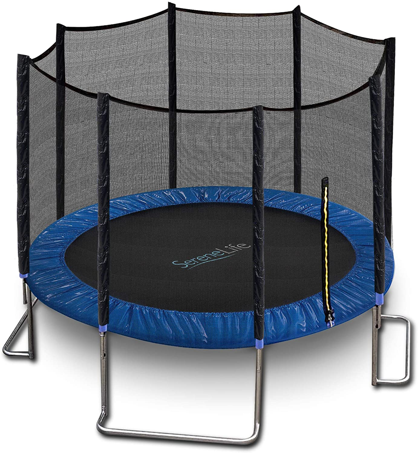 SereneLife 10ft ASTM Approved Trampoline with Net Enclosure
